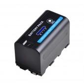 Аккумулятор для Sony NP-F750 NP-F770, 5200mAh с индикацией заряда